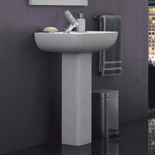 Options 600 550mm Basin & Full Pedestal - 1 Tap Hole
